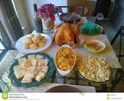 thanksgiving traditional latinhanksgiving dinner stock photo
