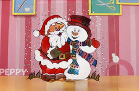 How To Make A Christmas Card Online - how to make santa with snowman christmas glass painting online