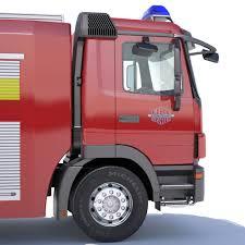 pink mercedes truck mercedes actros fire truck 3d cgtrader