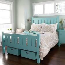 Turquoise Bed Frame Shutter Bed Everything Turquoise