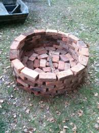 How To Make Fire Pits - fire pit fast and very easy made with regular whole bricks