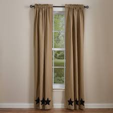 country panel curtains taupe u0026 stars lined panels 84
