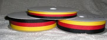 black and yellow ribbon black yellow tri colour striped ribbon