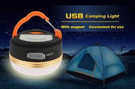 1800mah power bank camping light magnet 3 modes lantern