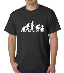 s novelty t shirt evolution of a computer pc gamer tees