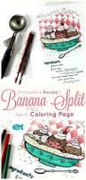 banana split recipe coloring page
