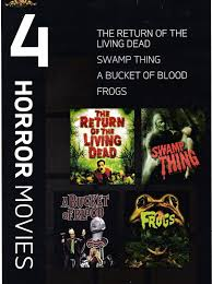 4 mgm horror movies swamp thing bucket of blood frogs return