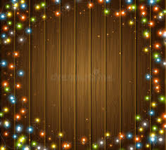 round bulb fairy lights colourful glowing christmas garland wood texture lights effects
