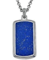 tag necklace mens images Esquire men 39 s jewelry lapis lazuli 29 x 14mm tag pendant tif
