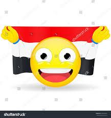 Ukrainian Flag Emoji Emoji Fan Holds Hands Flag Behind Vectores En Stock 463050334