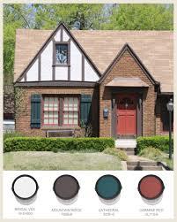 English Tudor Style Colorfully Behr Tudor Style