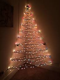 beautiful christmas tree of lights on wall 40 for home decorating