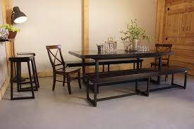 barn door dining table wood iron dining table liken woodworks