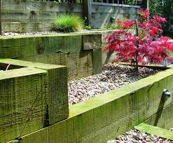wooden garden sleepers u2013 yes or no to railway sleepers in the