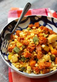 Potatoes As Main Dish - cajun sweet potato salad with cornmeal crusted okra corn and bell