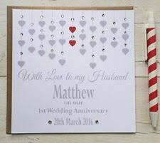 wedding anniversary card ebay
