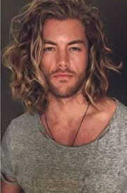 haircuts that need no jell for guys wavy shoulder length hairstyle for man hairstyle pinterest