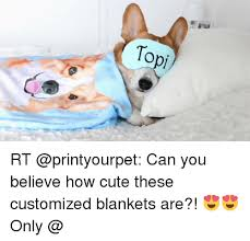 Customized Memes - topi rt can you believe how cute these customized blankets are