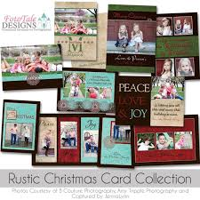rustic christmas holiday card collection digital custom photoshop