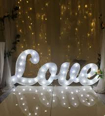 light up letter sign with marquee fairground bulbs 2ft