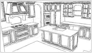 how to draw kitchen cabinets in perspective kitchen