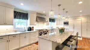 grey kitchen countertops with white cabinets top 5 kitchen countertop choices for white cabinets marble