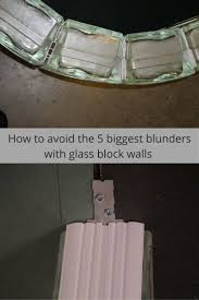 best 25 glass block installation ideas on pinterest glass block
