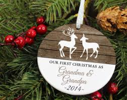 grandparent christmas ornaments our home ornament rustic deer personalized porcelain