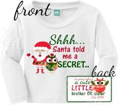 christmas pregnancy announcement front and back christmas pregnancy announcement shirt or onesie