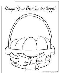 easter basket with eggs coloring page easter basket design your own colouring page coloring pages printable
