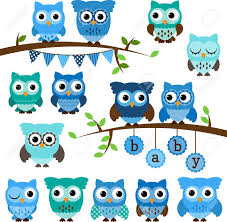 baby shower owls collection of boy baby shower themed owls and branches royalty