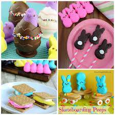 Easter Cake Decorating With Peeps by Fun Easter Treats Made With Marshmallow Peeps Crafty Morning
