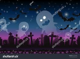 halloween graveyard background halloween cartoon background fantasy seamless landscape stock