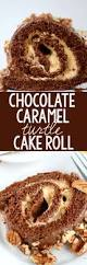 chocolate caramel turtle cake roll crazy for crust