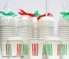 christmas disposable paper coffee cups with lids two funny girls