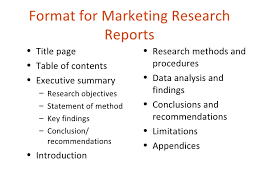 Marketing Reports Exles by Market Research Report Template Sle Great Presentation