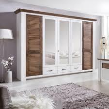 Schlafzimmer Abverkauf Terreich Laguna Kleiderschrank 5 Türig Pinie Teilmassiv Weiß Terra Gewischt