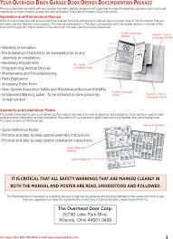 Overhead Door Opener Manual 315390r3 Garage Door Remote Receiver User Manual The Genie