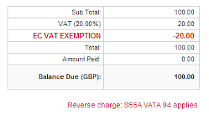ec vat invoices reverse charge statement feature quickfile