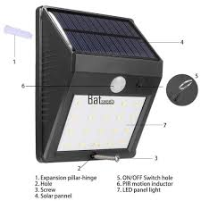 outdoor solar lights with on off switch solar powered wall mount led light outdoor garden path landscape