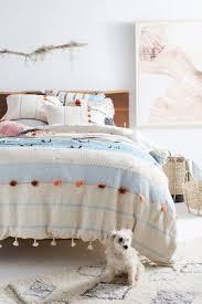 White Ruffled Comforter Bedding Bohemian U0026 Unique Bedding Anthropologie