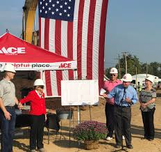 ace hardware store pittsfield ace hardware store breaks ground herald whig