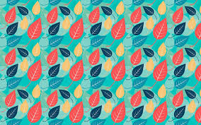 Pattern Wallpaper Leaves Pattern Wallpaper For Desktop Of Red And Blue Leaves