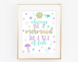 mermaid printable etsy