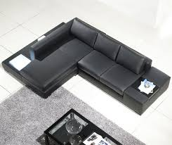 Sectional Sofa Black Modern Black Compact Leather Sectional Sofa Tos Lf 2029 Comp Bl