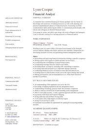 finance resume template resume template finance financial analyst cv sle interrogating
