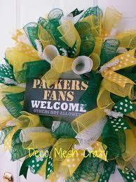 green bay packers sports deco mesh wreath www facebook com
