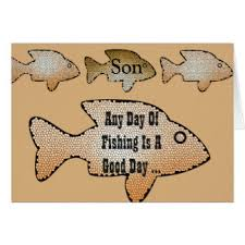 son fishing birthday cards greeting u0026 photo cards zazzle