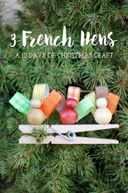 3 french hens clip on ornament creative all and kid