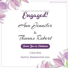 engagement ceremony invitation write name on floral engagement invitation card pictures